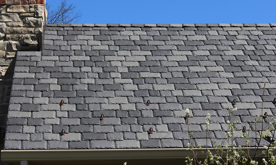 The Uk Using First Ever In England Tapcoslate Aledora 804 Steel Grey And 806 Brandywine Slates Ridge Caps Images Courtesy Of Freshfields